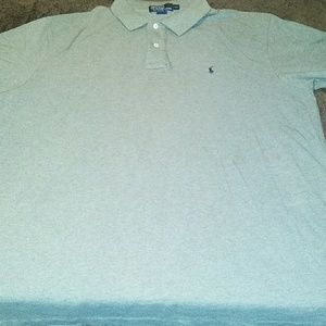Short sleeve gray polo shirt